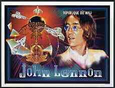 Mali 1996 John Lennon imperf souvenir sheet (1,500f) unmounted mint, Mi BL89