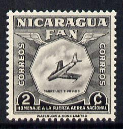 Nicaragua 1954 National Air Force Commemoration - 2c Sabre Jet F-86 unmounted mint SG 1210