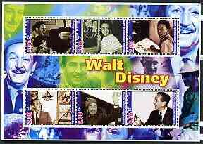 Congo 2002 Walt Disney perf sheetlet containing set of 6 values unmounted mint