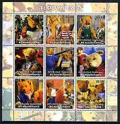 Mauritania 2003 Teddy Bears perf sheetlet containing set of 9 values unmounted mint