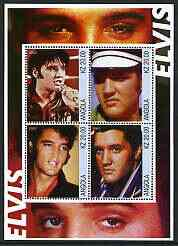 Angola 2002 Elvis Presley perf sheetlet containing set of 4 values unmounted mint