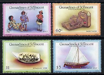 St Vincent - Grenadines 1986 Handicrafts set of 4 unmounted mint SG 464-7