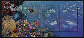 Australia 1995 Marine Life perf m/sheet unmounted mint, SG MS 1562, stamps on marine life, stamps on turtles, stamps on reptiles, stamps on sharks, stamps on fish, stamps on coral, stamps on octopus