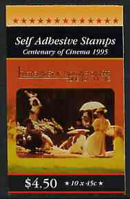 Booklet - Australia 1995 Centenary of the Cinema $4.50 self-adhesive booklet opt'd for Queensland Stamp & Coin Show, pristine SG SB90a