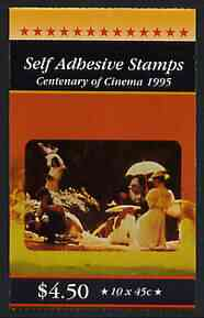 Booklet - Australia 1995 Centenary of the Cinema $4.50 self-adhesive booklet, pristine SG SB90
