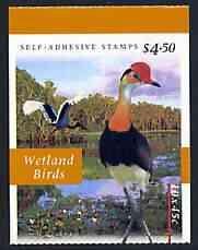 Booklet - Australia 1997 Flora & Fauna (Wetland Birds) $4.50 self-adhesive booklet, pristine SG SB116