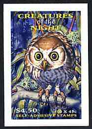 Booklet - Australia 1997 Nocturnal Animals $4.50 self-adhesive booklet, pristine SG SB117