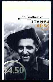 Booklet - Australia 1995 Second World War Heroes $4.50 self-adhesive booklet, pristine SG SB89