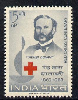 India 1963 Red Cross Centenary unmounted mint SG 467