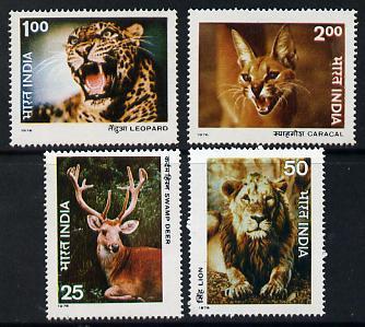 India 1976 Wildlife set of 4 unmounted mint SG 825-28