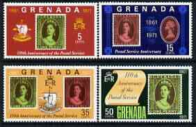 Grenada 1971 Anniversary of Postal Services perf set of 4 unmounted mint, SG 450-53