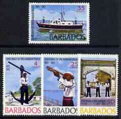Barbados 1967 Centenary of Harbour Police perf set of 4 unmounted mint, SG 363-66