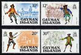 Cayman Islands 1975 Pirates perf set of 4 unmounted mint, SG 392-95