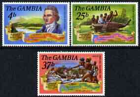 Gambia 1971 Birth Bicentenary of Mungo Park (explorer) perf set of 3 unmounted mint, SG 284-86