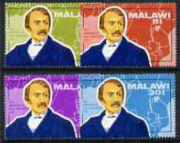 Malawi 1973 Death Centenary of David Livingstone (1st issue) perf set of 4 unmounted mint, SG 435-38