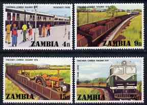 Zambia 1976 Opening of Tanzania-Zambia Railway perf set of 4 unmounted mint, SG 253-56
