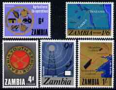 Zambia 1967 National Development perf set of 5 unmounted mint, SG 124-28