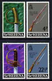 St Helena 1971 Military Equipment (2nd issue) perf set of 4 unmounted mint, SG 281-84