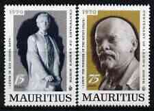 Mauritius 1970 Birth Centenary of Lenin perf set of 2 unmounted mint, SG 417-18