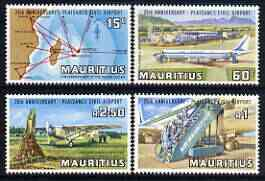 Mauritius 1971 25th Anniversary of Plaisance Airport perf set of 4 unmounted mint, SG 431-34