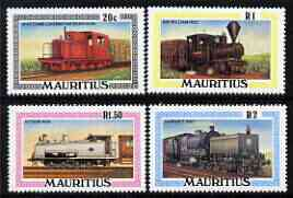 Mauritius 1979 Railway Locomotives perf set of 4 unmounted mint, SG 565-68