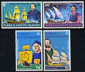Turks & Caicos Islands 1972 Discoverers & Explorers perf set of 4 unmounted mint, SG 368-71