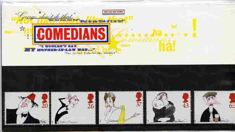 Great Britain 1998 Comedians set of 5 in official presentation pack SG 2041-45