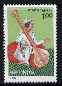 India 1986 Tansen (Musician & Composer) unmounted mint SG 1223