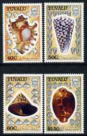 Tuvalu 1991 Sea Shells perf set of 4 unmounted mint, SG 597-600*