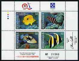 Micronesia 1996 10th Asian Stamp Exhibition (Fishes) perf sheetlet unmounted mint, SG 522a
