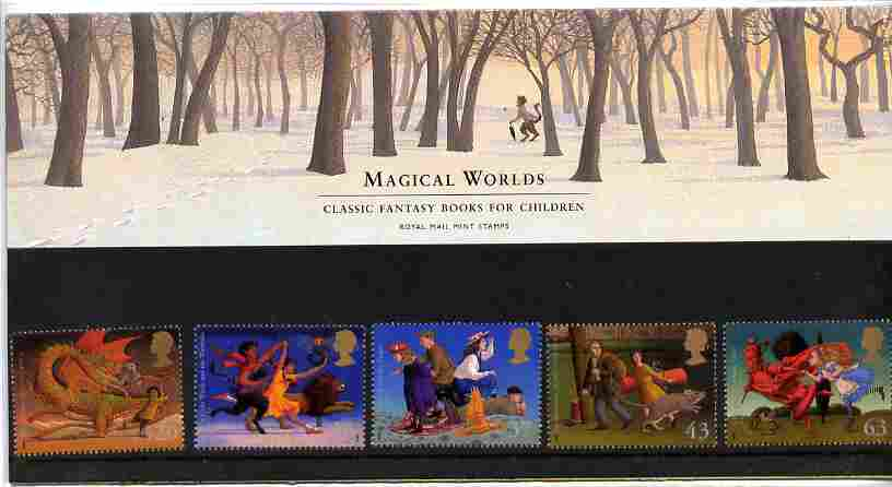 Great Britain 1998 Famous Children's Fantasy Novels set of 5 in official presentation pack SG 2050-54