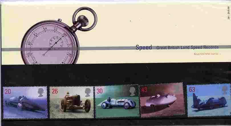 Great Britain 1998 British Land Speed Record Holders set of 5 in official presentation pack SG 2059-63
