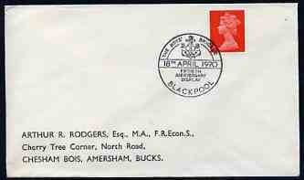 Postmark - Great Britain 1970 cover bearing illustrated cancellation for 50th Anniversary of Boys Brigade (Blackpool)