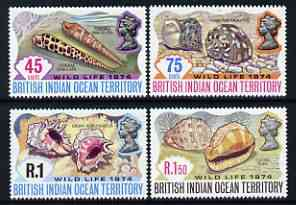 British Indian Ocean Territory 1974 Wildlife (2nd series) Shells perf set of 4 unmounted mint, SG 58-61*