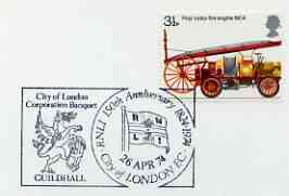 Postmark - Great Britain 1974 cover bearing illustrated cancellation for 150th Anniversary of RNLI (London)