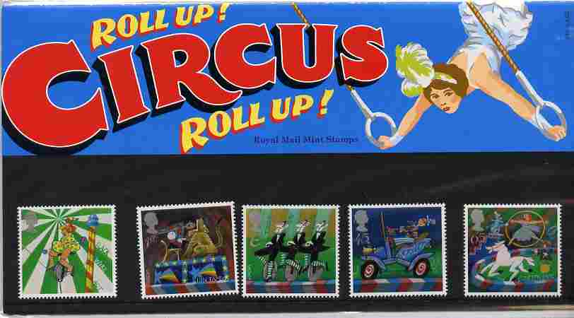 Great Britain 2002 Europa - Circus set of 5 in official presentation pack SG 2275-79
