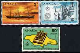 Jamaica 1970 Centenary of Telegraph perf set of 3 unmounted mint, SG 320-22