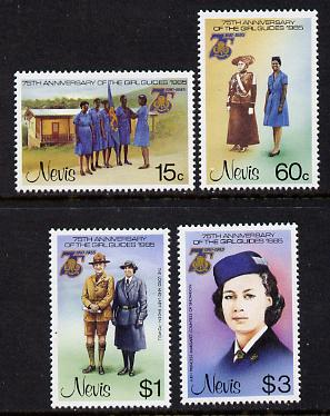 Nevis 1985 Girl Guides set of 4 unmounted mint SG 293-6