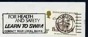 Postmark - Great Britain 1974 cover bearing illustrated slogan cancellation for Learn to Swim (Leicester)