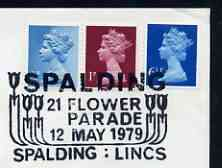 Postmark - Great Britain 1979 cover bearing illustrated cancellation for Spalding Flower Festival