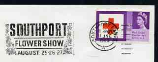 Postmark - Great Britain 1965 cover bearing illustrated slogan cancellation for Southport Flower Show
