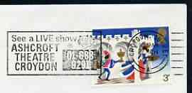 Postmark - Great Britain 1974 cover bearing illustrated slogan cancellation for Ashcroft Theatre, Croydon