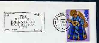 Postmark - Great Britain 1973 cover bearing slogan cancellation for British Philatelic Exhibition