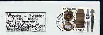 Postmark - Great Britain 1973 cover bearing slogan cancellation for 'Dick Whittington' at the Wyvern, Swindon