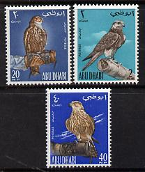 Abu Dhabi 1965 Falconry set of 3 unmounted mint, SG 12-14