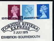 Postmark - Great Britain 1979 cover bearing illustrated cancellation for 75th Anniversary of Cornish Riviera Express Exhibition