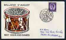 Postmark - Great Britain 1967 cover bearing illustrated cancellation for Ballater Highland Games