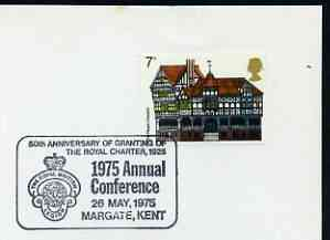 Postmark - Great Britain 1975 card bearing illustrated cancellation for Royal British Legion Conference (Margate)