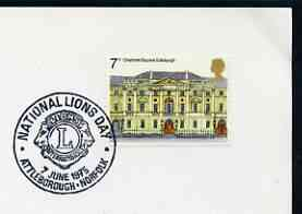 Postmark - Great Britain 1975 card bearing illustrated cancellation for National Lions Day, Attleborough
