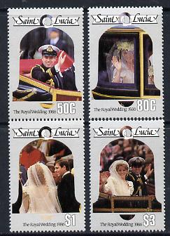 St Lucia 1986 Royal Wedding (Andrew & Fergie) (2nd series) set of 4 unmounted mint (SG 897-900)
